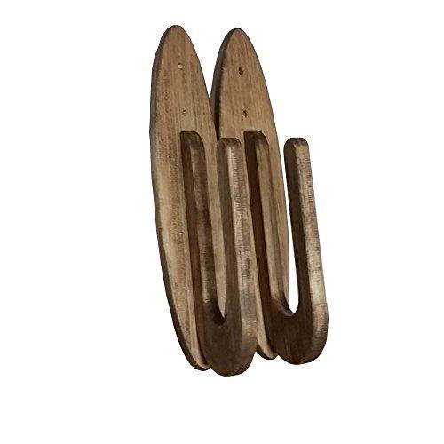 木製サーフィンボードラックパラレルブラウン