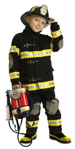 子供用防火服 消防士 6~8歳 コスチューム ブラック