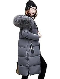 EASONDDD ダウンコート レディース ダウンジャケット 中綿コート 冬 アウター ファー フード ロング コート 着痩せ 無地 厚手 冬服 防寒着 おしゃれ あったか 女性用