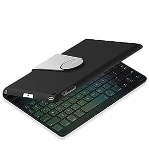 JETech iPad Mini Bluetooth キーボードカバー iPad Mini 1/2/3対応 360度角度調整可能スタンド K2011