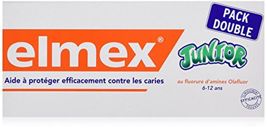 どちらかメンダシティバルクELMEX Dentifrice Junior 7-12 Ans Pack Double (2 x 75 ml)