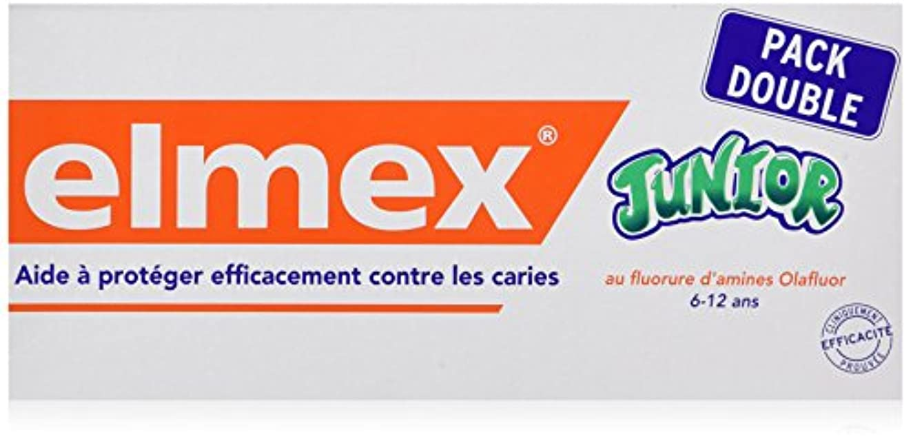 たとえ債務独占ELMEX Dentifrice Junior 7-12 Ans Pack Double (2 x 75 ml)