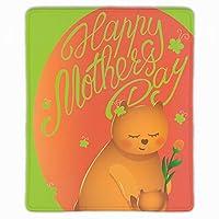 母の日の挨拶パターンデザイン マウスパッド 滑り止めゴム底 耐洗い表面 耐久 250X300X3mm