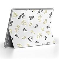 Surface go 専用スキンシール サーフェス go ノートブック ノートパソコン カバー ケース フィルム ステッカー アクセサリー 保護 ダイヤ 黒 シンプル 010858