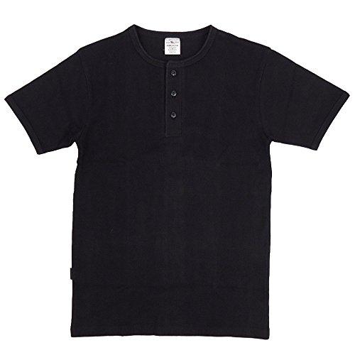 AVIREX デイリー ヘンリーネックTシャツ #6143504(旧品番#618364)Lブラック