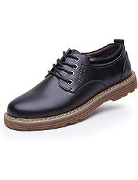 AmazingJP カジュアルシューズ メンズ ビジネスシューズ 本革 ローファー 紳士靴 革靴 レースアップ ウォーキング 通気性