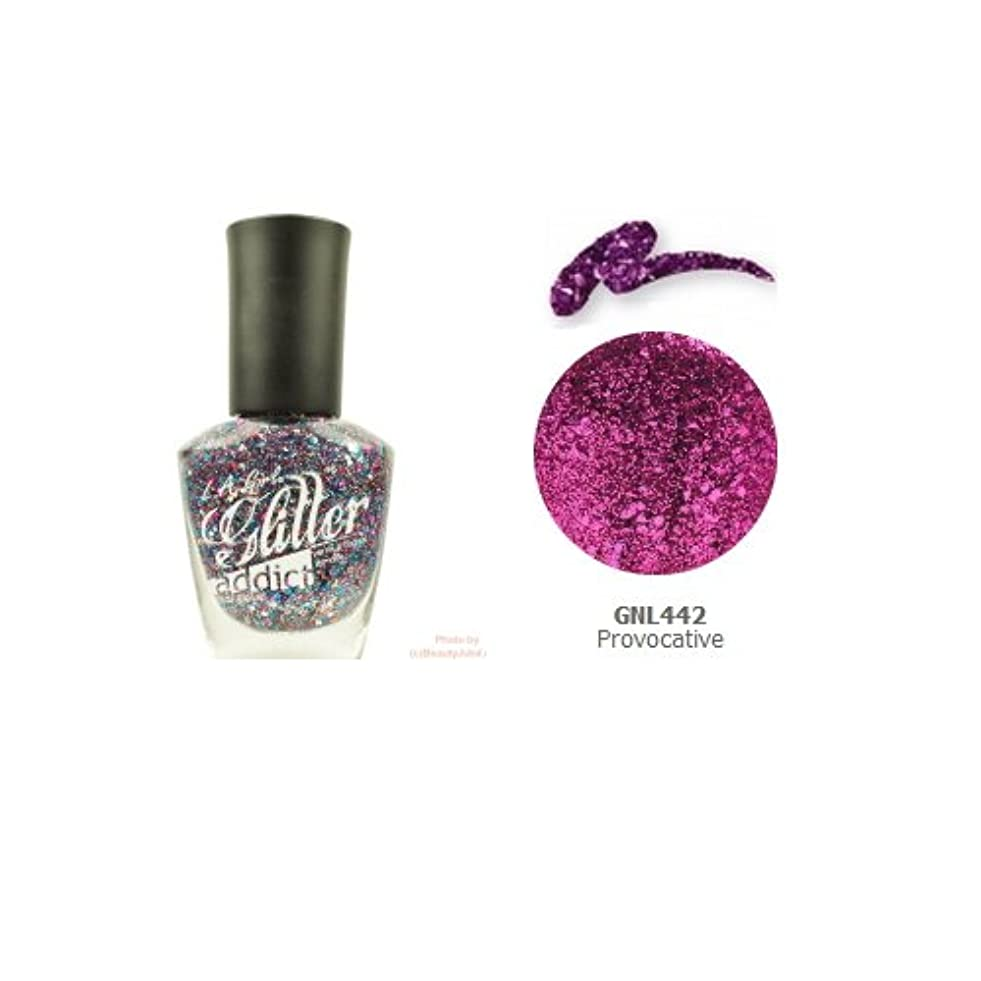 ひそかに食堂キャップ(3 Pack) LA GIRL Glitter Addict Polish - Provocative (並行輸入品)