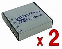 【バッテリー 2個セット】 CASIO NP-40 互換 バッテリー EXILIM EX-Z1200 EX-FC150 EX-Z450 EX-Z400 EX-Z1000 等 対応