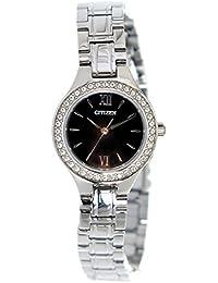 [シチズン] CITIZEN 腕時計 クオーツ EJ6090-53E ブラック レディース 海外モデル [並行輸入品]