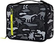 PackIt PKT-CB-DCC Freezable Classic Lunch Box Bag, Dino Camo Charcoal