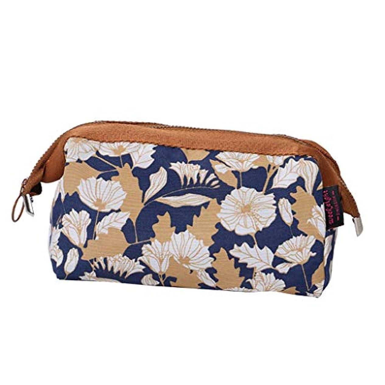 カカドゥ流行判決joyMerit 化粧ポーチ 化粧品収納バッグ 防水 旅行 ジッパー付 - 褐色