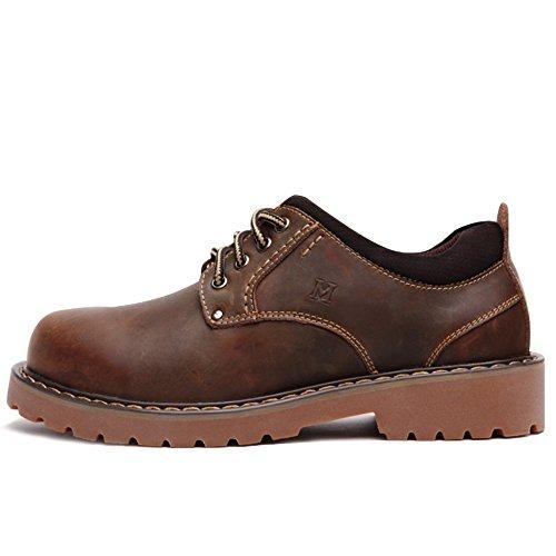 [Mr.M] マーティンメンズレザーショートブーツ 厚底ビジネスシューズフォーマルシューズ 通勤遠足イングランド砂漠靴 (43/ 26.5cm, ブラウン / Brown)