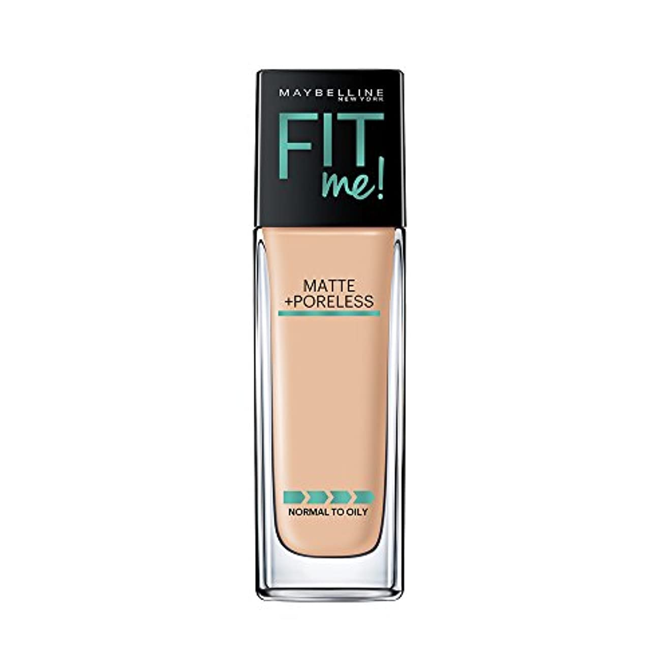 セッティング可能ぶどうMAYBELLINE Fit Me! Matte + Poreless Foundation - Warm Nude 128 (並行輸入品)