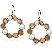Lucky Brand Women's Druzy Circle Drop Earrings, Gold, One Size