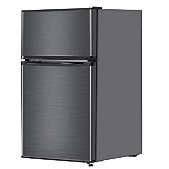 maxzen 冷蔵庫 90L 一人暮らし 2ドア マクスゼン 左右付け替えドア コンパクト 小型 ガンメタリック JR090ML01GM