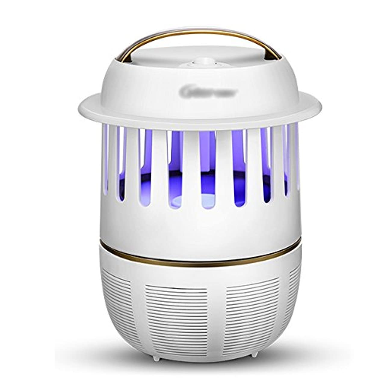 蚊よけランプ 昆虫キラー電子LED蚊キャッチャーUSB光触媒UV蚊のトラップキラー屋内のオフィスのための真空ファンを備えた蚊ランプブラック、ホワイト 防虫灯 (色 : 白)