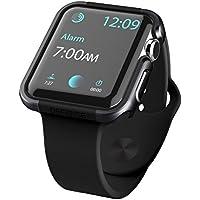 X-Doria Apple Watch 3 / 2 / 1 ケース (42mm) DEFENSE EDGE シリーズ プレミアム アルミニウム x TPU バンパー フレーム ハイブリッド (2層構造) スリム ケース 【 ブラック 】