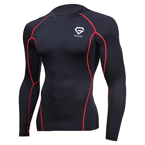 [해외](구론구) GronG 압축웨어 언더 셔츠 스포츠 셔츠 남성 긴팔 라운드 넥 UV 컷 UPF50 +/(Glong) GronG Compression Wear Undershirt Sports Shirt Men`s Long Sleeve Round Neck UV Cut UPF 50 +