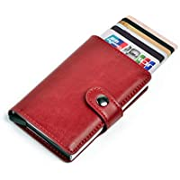 TYT Card Holder with RFID Blocking, Pop-Up Metal Credit Card Case for Men
