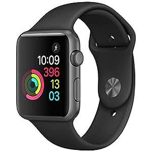 Apple Watch Series 1 42mm スペースグレイアルミニウムケースとブラックスポーツバンド MP032J/A