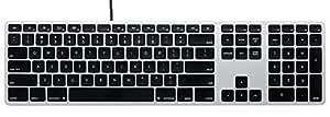 Matias Wired keyboard USB接続 MAC配列/英語配列 有線タイプ シルバー/ブラック FK316
