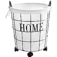 DCAH ストレージバスケット鍛造鉄レトロ汚い服ストレージバスケットランドリーバスケットおもちゃのバケツ服ハンパー3サイズオプション Laundry basket (サイズ さいず : 30 * 30 * 23CM)