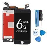 ibaye iPhone 6s フロントパネル 画面交換修理 用LCD タッチパネル 液晶パネル フロントガラス デジタイザ 修理工具セット付き (IPhone 6s-黒)