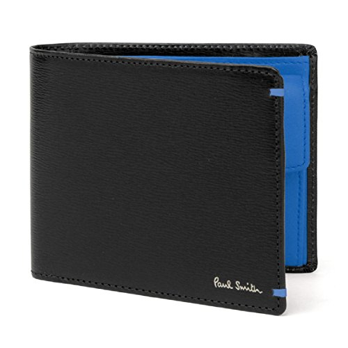 ポールスミス Paul Smith 財布 カラーコンビパルメラート 2つ折り財布 (ブラック)