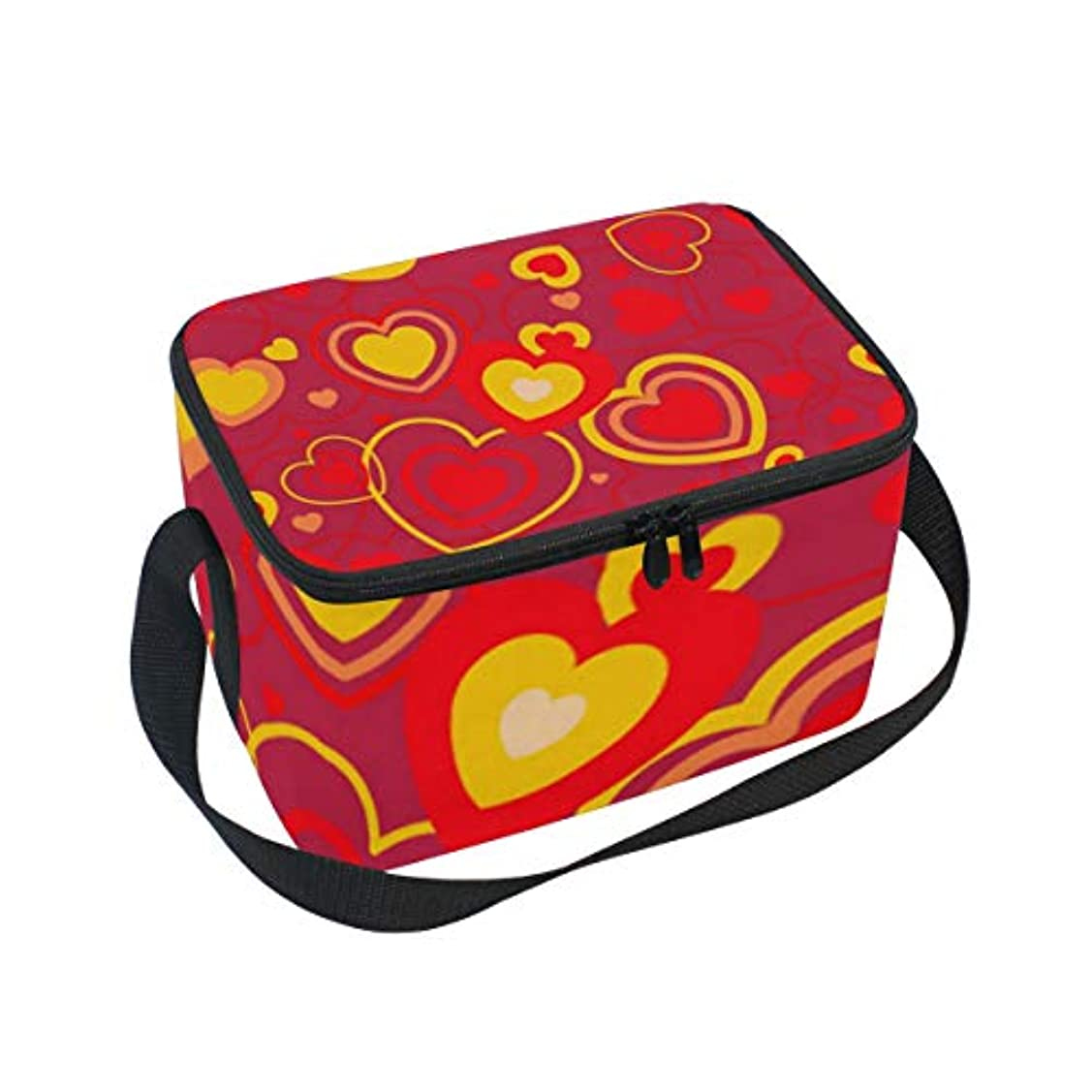 円周電話巡礼者クーラーバッグ クーラーボックス ソフトクーラ 冷蔵ボックス キャンプ用品 バレンタインデー 心柄 保冷保温 大容量 肩掛け お花見 アウトドア