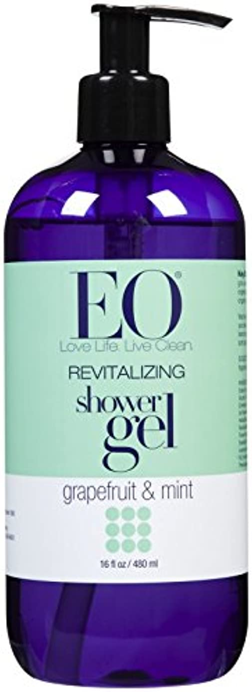 酸抗生物質気取らないEO Products Grapefruit & Mint Shower Gel 473 ml (並行輸入品)