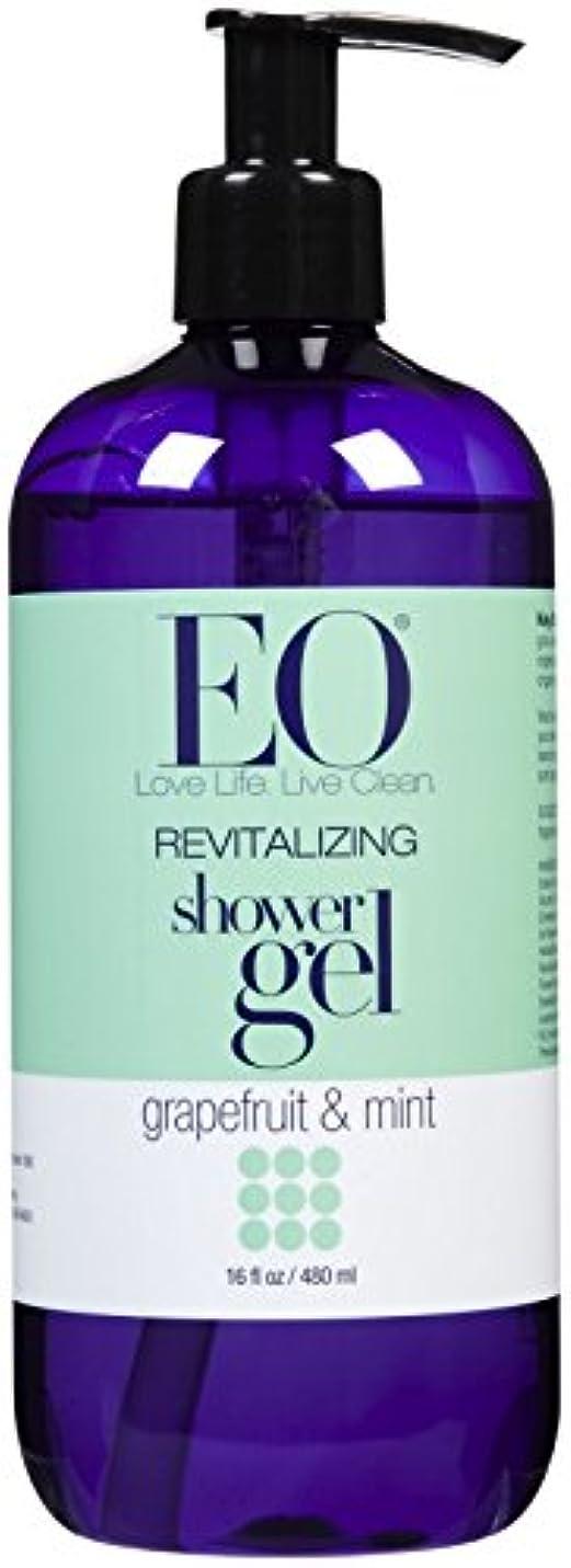 寓話ブルゴーニュ批判的EO Products Grapefruit & Mint Shower Gel 473 ml (並行輸入品)