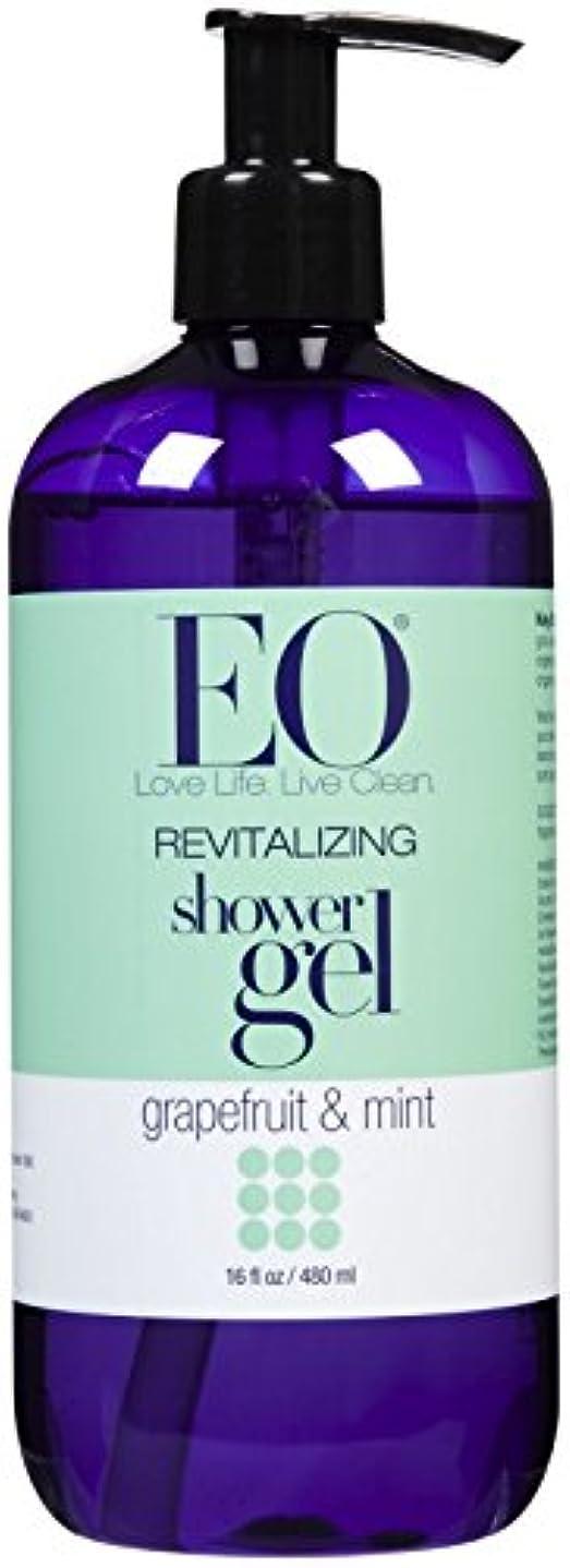 四分円政治的支払いEO Products Grapefruit & Mint Shower Gel 473 ml (並行輸入品)