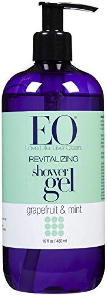 南背景下着EO Products Grapefruit & Mint Shower Gel 473 ml (並行輸入品)