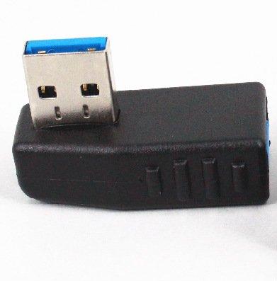 【Maxhood】USB3.0アダプタ 方向変換 (左向き/右向き:2種類1セット) ノーマル type L 字型角度変換/変更 USBコネクタ (左向き/右向き)