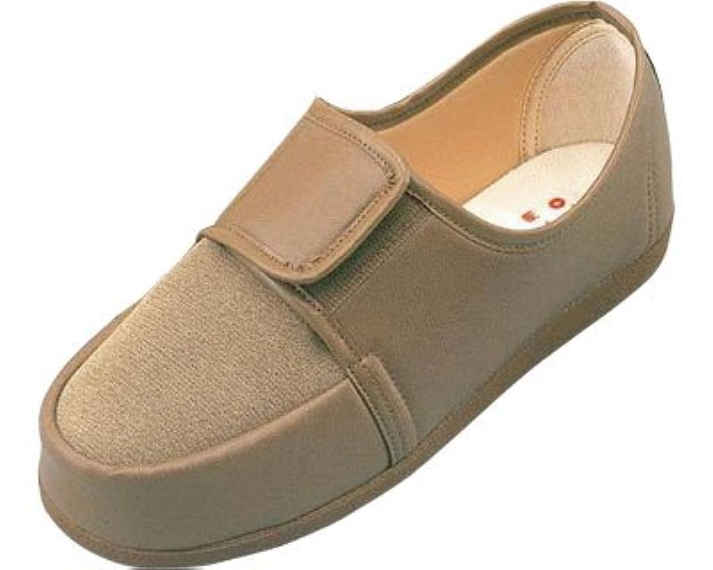リハビリシューズ 両足 婦人用 22.0cm 茶 W603 (マリアンヌ製靴) (シューズ)(返品不可)