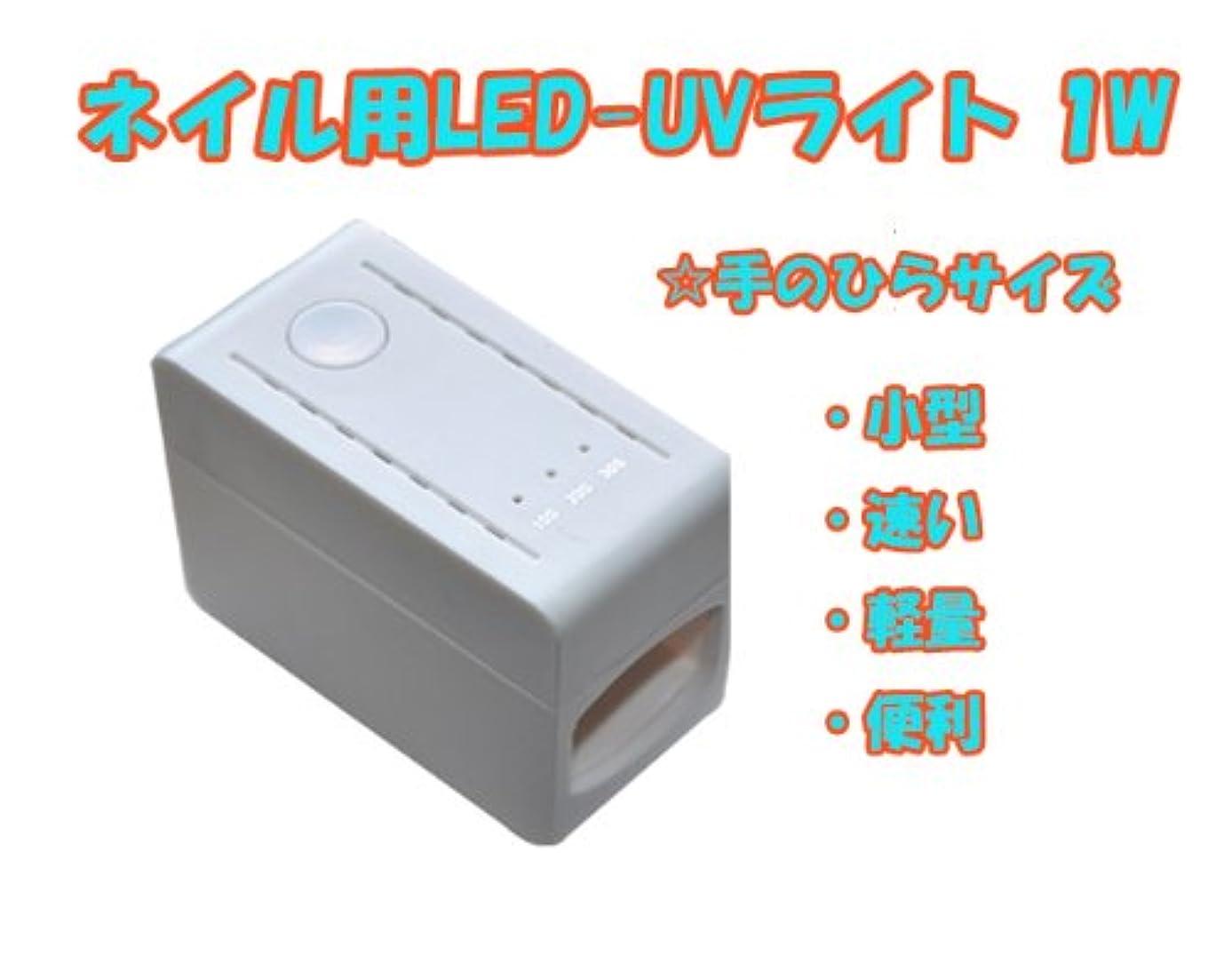 プレゼン省市長【新入荷】【即納】コンパクトサイズのネイル用LED-UVライト 1W /タイマー付き もれなくカラージェル5g(LED&UV両方対応)一個お付けいたします(カラーはスタッフにお任せ下さい)