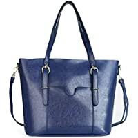 Womens Satchel Hobo Stylish Top Handle Tote Genuine Leather Handbag Shoulder Purse