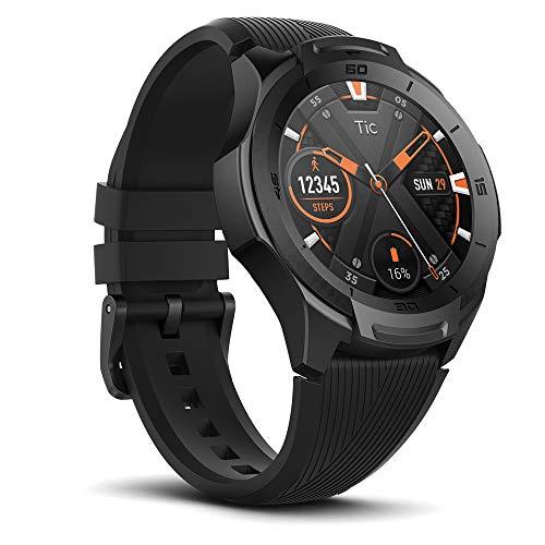 【2019最新版】 TicWatch S2 スマートウォッチ 5ATM防水&水泳対応 GPS内蔵 心拍計 Wear OS by Google ios&android対応 アウトドア 多機能 腕時計 ブラック