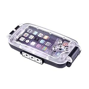 Elecguru 水中ケース 水中撮影 防水ケース 防護ケースカバー iPhone 7 Plus専用 ダイビングハウジング 40m/130ft 防水ハウジングケース 水中撮影用防水ケース (iPhone7 Plus黒)