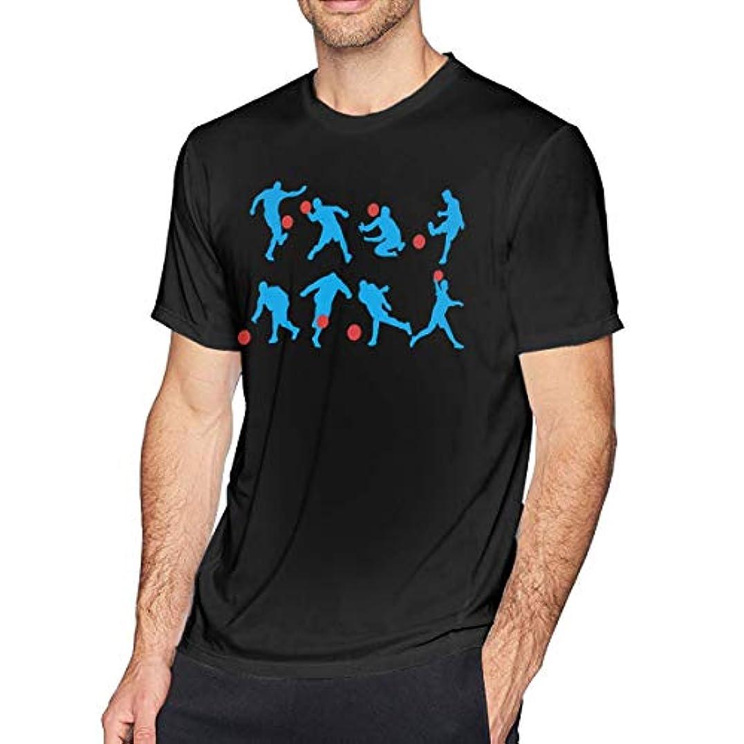 解説代替案つぶす男の 半袖の純綿のシャツ, 運動の 子どもサッカーゲーム フィットネスTシャツ 対する男, 円襟