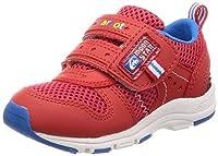 [キャロット] 運動靴 通学履き マジック ゆったり 14-21cm(0.5cm有) 2E キッズ CR C2175 レッド 14.0 cm