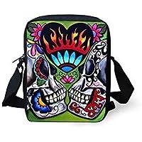 55db108c6646 Bloomerang NOISYDESIGNS 3D Skull Casual Shoulder Bag For Women Small  Messenger Bag Woman Handbags Mini Cross-body Bag Mini Mochila…