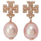 [トリーバーチ] 真鍮 Kira Pave Pearl Drop Earring キラ パヴェ パール ドロップ ピアス ダブルT ロゴ 60525-955 ローズゴールド [並行輸入品]