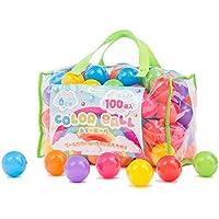 coccoro カラーボール 100個入り 7色 直径6cm 収納バッグ付き(ボールプール/キッズテント/キッズハウス用…