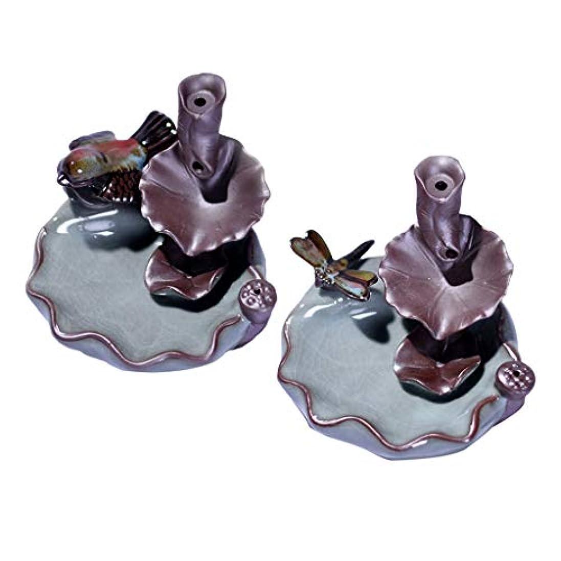 ペーストトロリー視聴者B Blesiya 香バーナー 香炉 装飾的 仏教 セラミック 香炉 2個