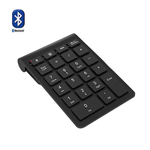 Bluetooth テンキー、Rytakiポータブルワイヤレスブルートゥース22-キーナンバーキーパッド。ラップトップ、デスクトップ、PC、ノートブック向けの会計データー入力タイプ