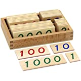 Elite Montessori Small Wooden Number Cards with Box (1-9000)