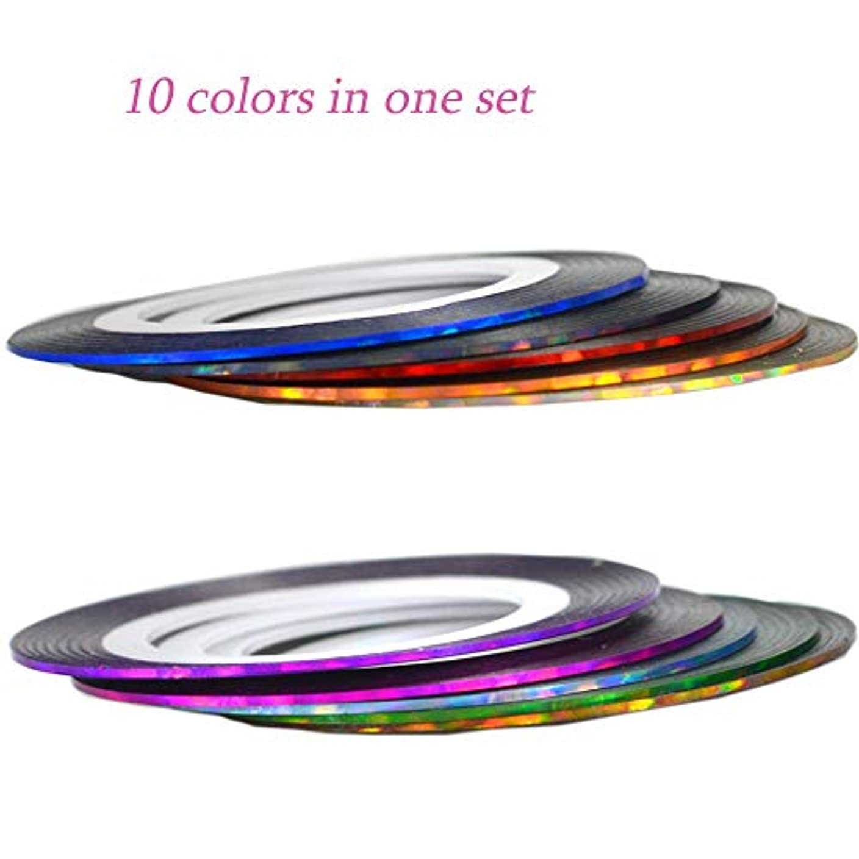 無能そう属性SUKTI&XIAO ネイルステッカー 10色0.8ミリメートル光沢のあるロールネイルストライピングテープラインヒントuvジェルメタリックネイルアートインテリアステッカーデカールツールマニキュア