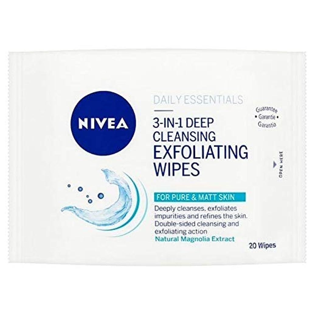 かる革新ポジション[Nivea ] ニベアディープクレンジングの剥離面は、20のワイプワイプ - NIVEA Deep Cleansing Exfoliating Face Wipes, 20 wipes [並行輸入品]