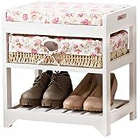 TLMY シンプルなモダンな庭のソリッドウッドの靴のベンチシューズラックストレージスツールの靴スツールの靴のキャビネット 靴箱 (色 : #1)